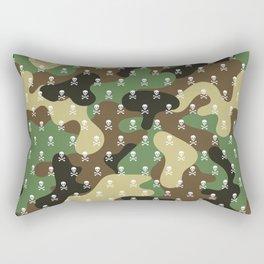 CAMO & WHITE SKULLS ALL OVER PRINT LARGE Rectangular Pillow