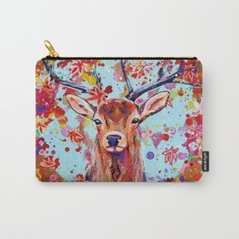 Autumn Herald - Deer Stag Fantasy Painting Carry-All Pouch