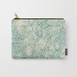 Kuala Lumpur Map Blue Vintage Carry-All Pouch