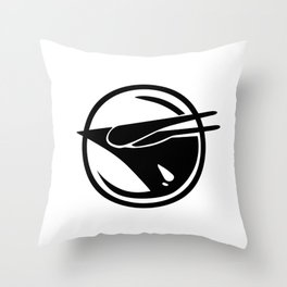 Rebel phoenix Throw Pillow
