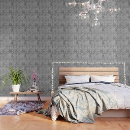 Black abstract tree pattern on concrete  - Mix&Match with Simplicty of life Wallpaper