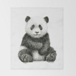 Panda Baby Watercolor Animal Art Throw Blanket