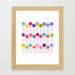 Lollipop Rainbow Framed Art Print
