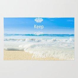 keep calm and live Aloha Rug
