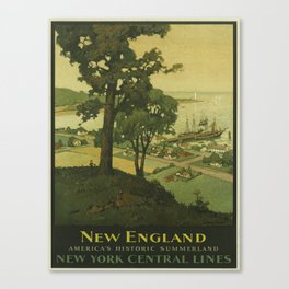 Vintage poster - New England Canvas Print
