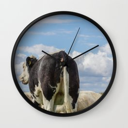 O, what a nice ass you have dear little cow Wall Clock
