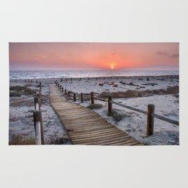 """""""To the beach...""""Cabo de Gata"""". Rug"""