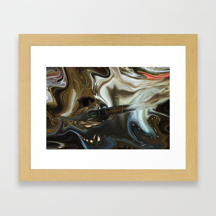 Imagine what is in your mind Framed Art Print