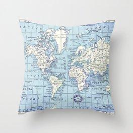 A Really Nice Map Throw Pillow