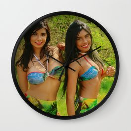[ BIODIVERSE.CO ] Colombian Exotic Sexy Girls Wall Clock
