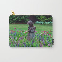 Child With Her Pet Statue Carry-All Pouch