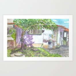 Colonial House 2 Art Print