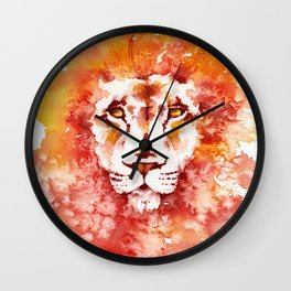 PRIDE (Water colour Lion) Wall Clock