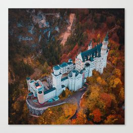 Neuschwanstein Castle in Schwangau, Germany Canvas Print