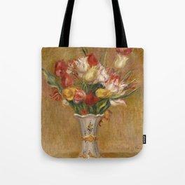 "Auguste Renoir ""Tulipes (Tulips)"" Tote Bag"