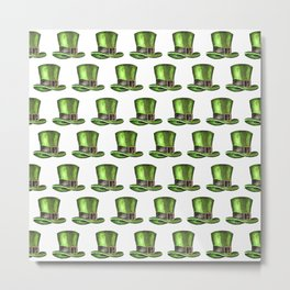 Saint Patrick's Day Leprechaun Hats Metal Print