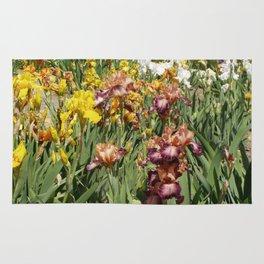Iris Flowers Rug