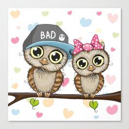 CUTE--OWL Canvas Print