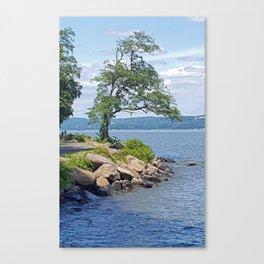 Hudson River Walk Canvas Print