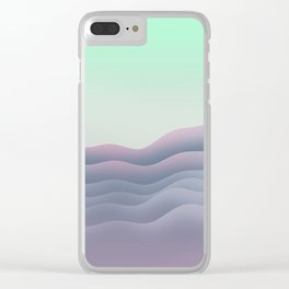 iso mountain sunset Clear iPhone Case