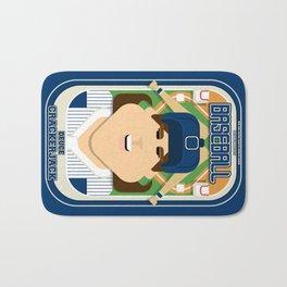 Baseball Blue Pinstripes - Deuce Crackerjack - June version Bath Mat