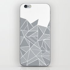 Abstract Mountain Grey on White iPhone & iPod Skin