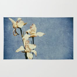 White Delphinium of Forgetfulness Rug