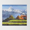 Panoramic View Of Beautiful Everest Mountain by whimsyart