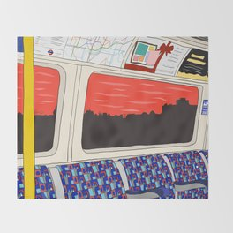 View from London Jubilee Line Throw Blanket