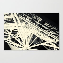 Spider Roof Struts Abstract Canvas Print