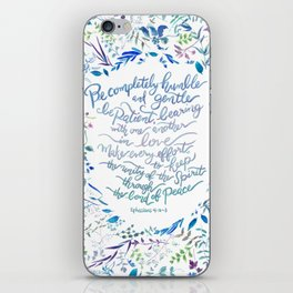 Be Humble & Gentle - Ephesians 4:2-3 iPhone Skin