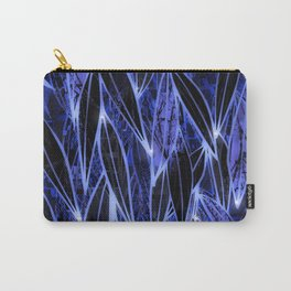 Blue Bamboo Night Print Carry-All Pouch