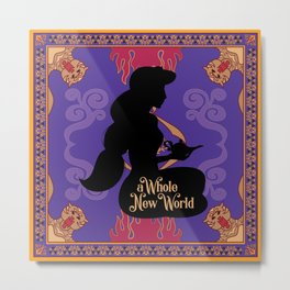 Jasmine silhouette - A whole new world Metal Print