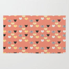 Kitties - Coral Rug