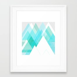 Icy Grey Mountains Framed Art Print