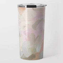 Forest Green Fuchsia Blush Pink Abstract Flower Spring Painting Art Travel Mug