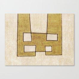 Protoglifo 06 'Mustard traverse cream' Canvas Print
