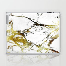 Gold-White Marble Impress Laptop & iPad Skin