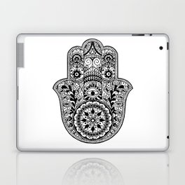 Black and White Hamsa Hand Laptop & iPad Skin