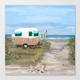 Beach Glamping Camping Canvas Print