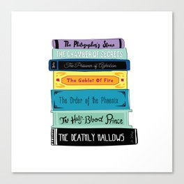 Hogwarts Stack of Wizardly Books Canvas Print