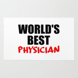 worlds best doctor funny saying Rug