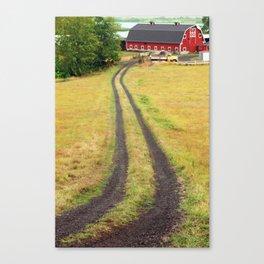 Red Barn Dirt Road Canvas Print
