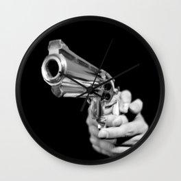 Aim and Shoot gun Wall Clock