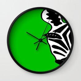 Zebra Green Wall Clock