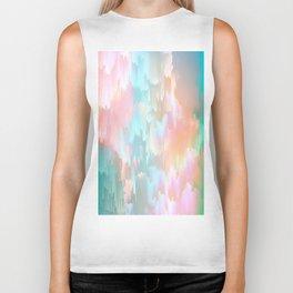 Candy Rainbow Glitch Fall #abstractart Biker Tank
