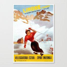 Limone Piemonte ski Italy Canvas Print