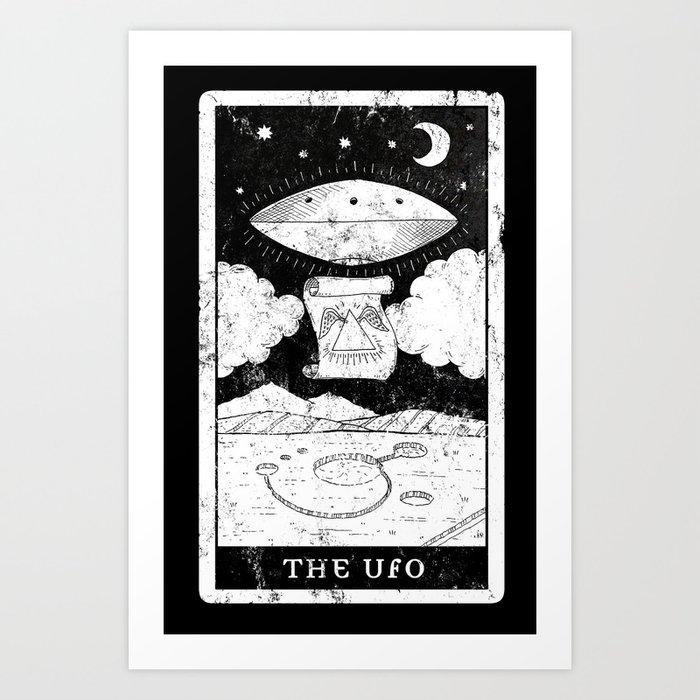 'The UFO' Tarot Card Art Print