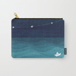 Garlands of stars, watercolor teal ocean Carry-All Pouch