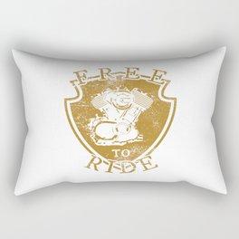 Free to ride Rectangular Pillow